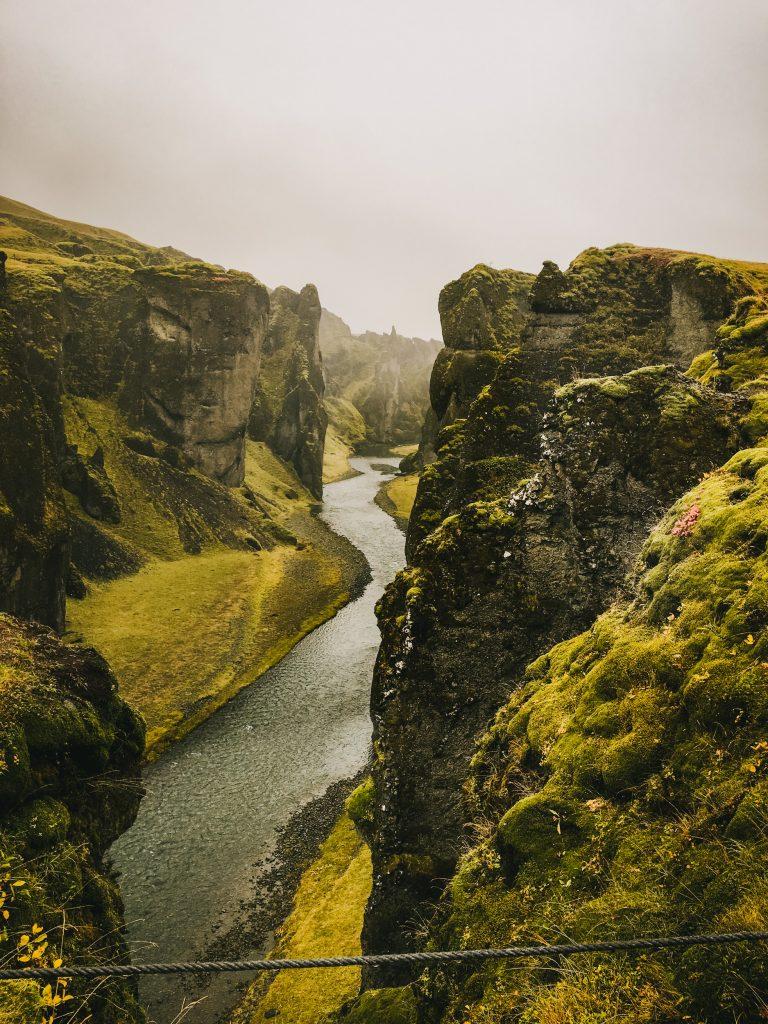 Iceland Fjaðrárgljúfur Canyon