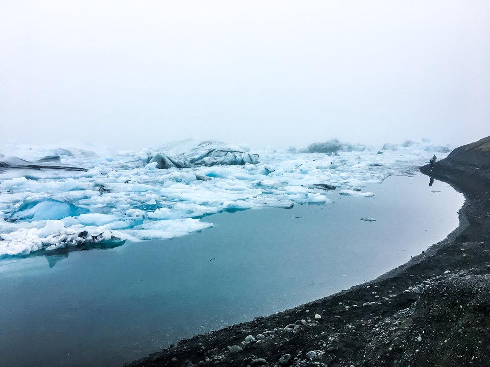 Jökulsárlón glacier southern iceland