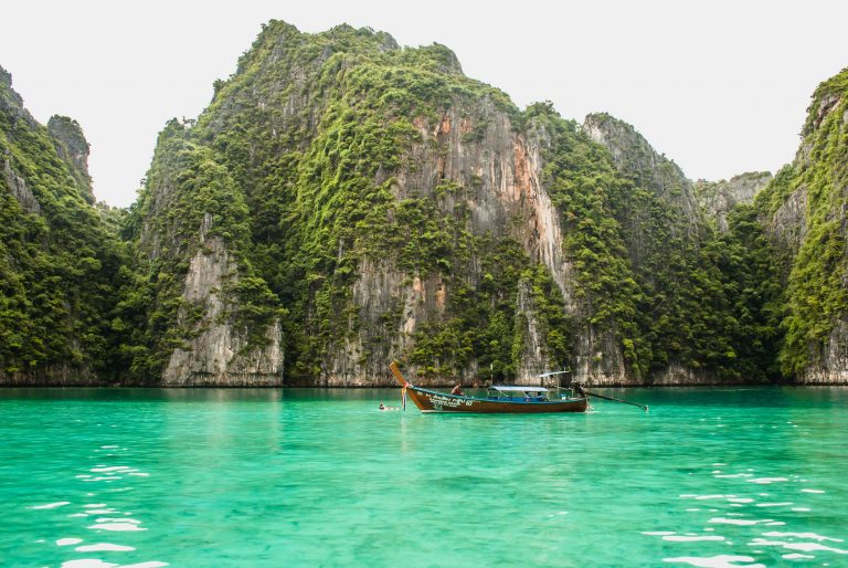 island hopping in Phi Phi, Thailand