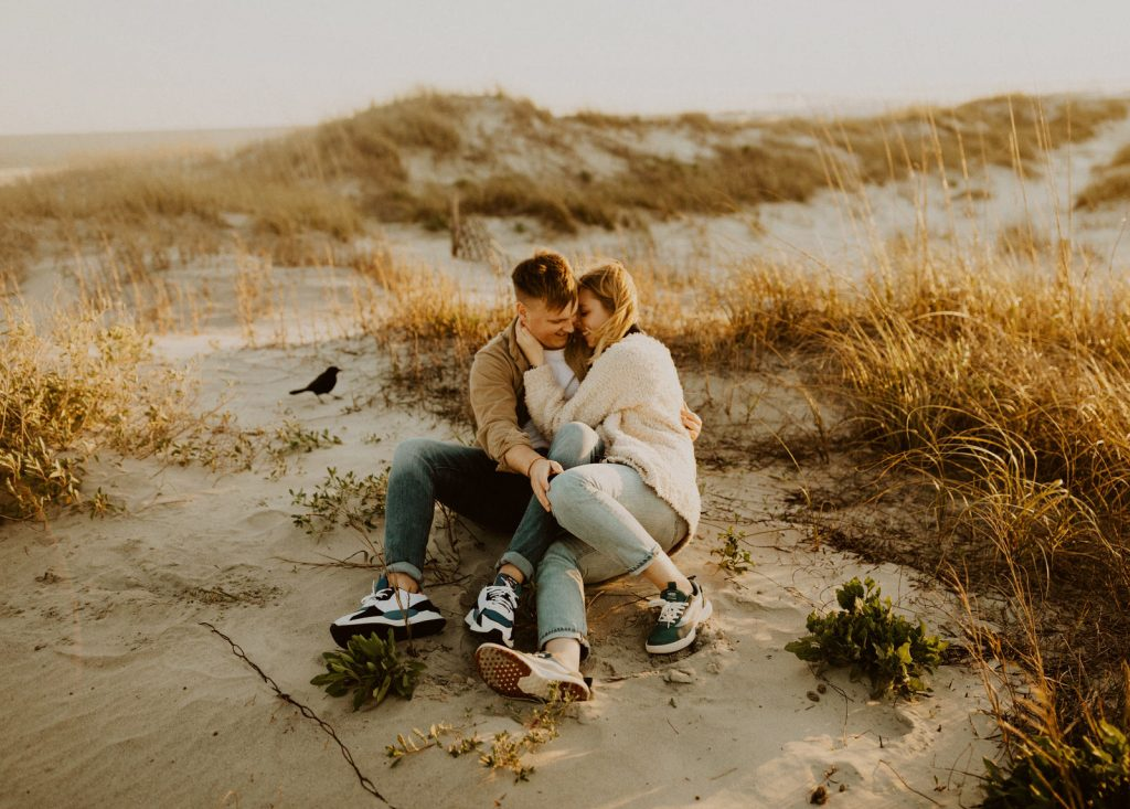Couples Photo Shoot on the beach in San Diego, California