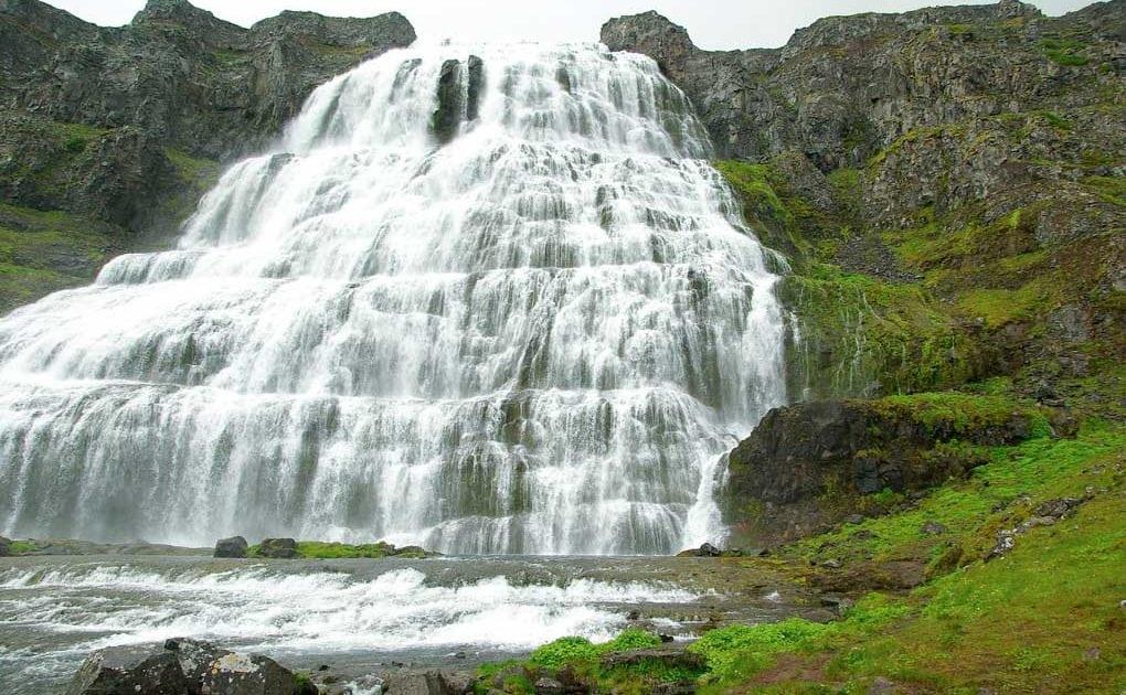 dynjandi waterfall westfords iceland